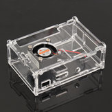 Transparent Acrylic Case Shell Enclosure Box with Fan For Raspberry Pi 3B/2B/B+