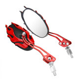 Pair 8/10mm Universal Motorcycle Motorbike Scooter Rear View Side Back Mirrors