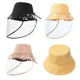 ZANLURE Balde Destacável de Pescador Chapéu Transparente de Proteção Máscara Chapéu Anti-Fog Saliva Pesca Caminhadas