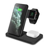 Bakeey 3 en 1 Chargeur sans fil pour station de charge rapide 15W pour Iphone 11 XS XR X 8 Apple Watch 5 4 3 Airpods Pro
