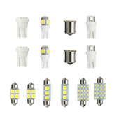 14PCS LED Interior Lights Kit T10 1157 36mm  Festoon Dome License Plate Bulbs White