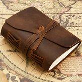 Ретро кожаный блокнот Натуральная Кожа Журнал Чистый лист бумаги Книга ручной работы Стандарты Блокнот
