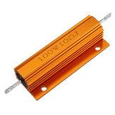 10pcs RX24 100W 10R 10RJ Metal Aluminum Case High Power Resistor Golden Metal Shell Case Heatsink Resistance Resistor