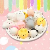 25 PZ Casuale Squishy Lot Lento aumento Kawaii Cute Animal Spremere giocattolo a mano