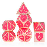 7 Pcs Dices Poliédricos de Liga de Zinco Para RPG MTG DND Dungeons Dragons Role Playing Table Games Dice