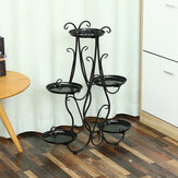 28.3 x 23inch 5 Tier Metal Plant Stand Flower Pot Holder Shelf Rack Garden Home