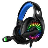 YOBA A20 سماعة رأس سلكية للألعاب RGB 3.5 مللي متر / USB وحهة المستخدم باس 7.1 قناة سماعة ألعاب موسيقى سماعة