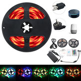 2*5M IP65 SMD2835 Flexible RGB LED Strip Light Smart WIFI Controller Alexa APP Control Kit DC12V
