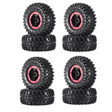4PCS AUSTAR 2.2 Inch Inflatable Tires Wheel Rims for 1/10 RC Climbing Rock Crawler Truck
