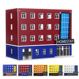 1/150 Skala Outland Building Model N Scena Gauge Modern School