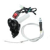 Tocho del acelerador interruptor del freno de matanza y cable trenzado conjunto bici bicicleta motorizada