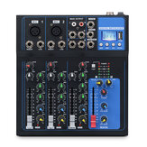 Bakeey 4 Canais bluetooth DJ Mic USB Drive Play Equalizing Adjustment Mixer de Áudio Contrl LED Display Digital Stream de Música