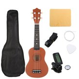 21 Inch Brown Sopran Basswood Ukulele Uke Hawaii Guitar Musical Instrument