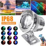 20W RGB LED Spot Lights Underwater Piscina Pond Garden Lamp Waterproof + remoto