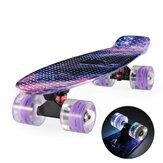 22 '' 4 rodas skate Cruiser Board Skate Flashing Wheel para iniciantes com rolamentos cromados para crianças Youth