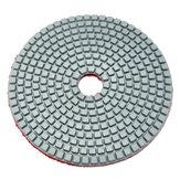 5 İnç 50-6000 Kum Elmas Parlatma Pedi Islak Kuru Mermer Beton Granit Cam için Zımpara Disk