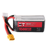 BT BEAT 14.8V 1500mAh 35C 4S Lipo Battery XT60 Plug With Battery Strap for RC Racing Drone