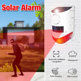 Intelligent Motion Sensor LED Solar Alarm Light Waterproof  Outdoor System Sound Security Wall Lamp