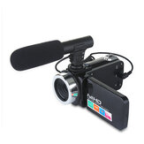 Video Camera 1080P 2400W Camcorder Vlog Camera for YouTube 270° Flipping IR Night Vision with Microphone Wide Angle Lens