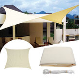 3.5x3.5M Paravento quadrato Vela a baldacchino Patio da giardino tenda da sole UV Block Top Shelter Beige