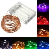 10M 100 LED Cobre Fio Fairy String Light Bateria Powered Waterproof Christmas Party Decor