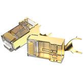 Vention Cat.8 FTP RJ45 Fiche Mudulaire Type Fendu Connecteur de Réseau Plaqué Or RJ45 Fiche Conception de Clip en queue d'aronde