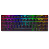 Clavier filaire bluetooth BlitzWolf® BW-KB1 Gateron Switch RGB 63 touches NKRO Type-C Clavier de jeu mécanique