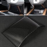 Cubierta de moldura de panel de consola de cambio de engranaje de fibra de carbono para Honda CRV 2017-18