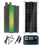 220 فولت الشمسية القوة نظام 1500 واط العاكس + 50 واط لوحة شمسية + 100A تحكم
