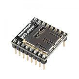 3Pcs WTV020 Audiomodul MP3-Player mit MicroSD-Kartenleser Geekcreit für Arduino - Produkte, die mit offiziellen Arduino-Karten funktionieren