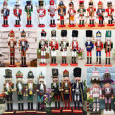 38 cm madera cascanueces muñeca soldado vendimia artesanía decoración regalos de Navidad