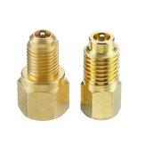 2PCSالانتعاشخزانفراغمضخةالنحاس محول 1/4 إلى 1/2 بوصة R134A إلى R12 للتكييف