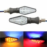 12V Motorcycle 12LED 3 Colours Blinker Dual Color Turn Signal Indicator Light