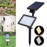 48 LED Solar Powered Flood Light Outdoor Yard Garden Landscape Spot Wall Lamp