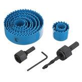 Drillpro12pz19-127mmHoleSaw Cutter Drill Bit Kit Strumento di Foro per Legno Cartongesso PVC Tubo
