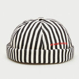 Stripe Baret Street Trends Melon Cap Vintage Innocent Metal Standard Sailor Brimless Hats