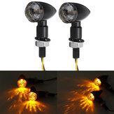 Indicatore luminoso ambra per mini indicatori di direzione per moto da 12V coppia universale