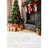 Photography Backdrop 1.5x2.1m Christmas Tree Red Socks Backdrop Vinyl Photography Photo Background For Home Decoration