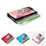 HomensRFIDBlocoSlimtitulardo cartão de crédito Alumínio Money Clip Carteira Minimalista