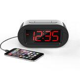 Réveil électronique LED Grand écran Table d'affichage numérique Horloges Snooze électroniques de bureau Chargement USB pour une utilisation à domicile