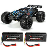 JLB Racing CHEETAH w / 2 البطارية 120A تمت ترقيته 1/10 2.4G 4WD 80km / h Brushless RC Car Truggy 21101 RTR نموذج