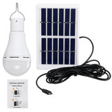 Portable Solar Powered LED Light Bulb Remote Control 7W 9W Hang Up Lamp Camping