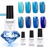 8Colors Blue Series Shimmer Brillare Chiodo Gel Soak-off UV Gel