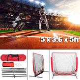 5x5 'Net Prática de Beisebol Dobrável Esporte Ao Ar Livre Indoor Net Esporte para Bater Pitching Batting Fielding Practice