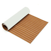 900mmx2400mmx5.5mm Light Brown e bianco EVA Foam Faux Teak Sheet Yacht in barca Teak sintetico Decking