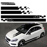 5 pezzi Universale Car Side Body Stripe Sticker DIY Decal Trim Hood Specchietto retrovisore