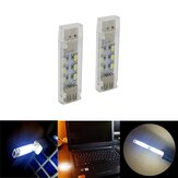 Mini USB 12 LED Lampe de lecture à double face pour ordinateur portable PC Notebook Power Bank