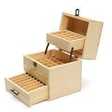 59 Compartment Essential Oil Storage Wooden Box Storage Box Compartment Essential Oil Display Box