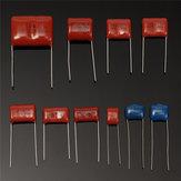 100Pcs 10 Değerler 1000V 0.001uf ~ 0.12uf CBB Metal Film Kapasitörler Çeşitleri Kit
