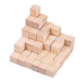 100Pcs 1/2/2.5cm DIY Wooden Blocks Handicrafts Craft Pieces Educational Toys